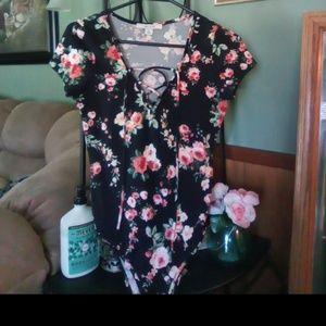 Beautiful floral print bodysuit